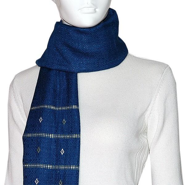Handgewebter Schal (Baumwolle)