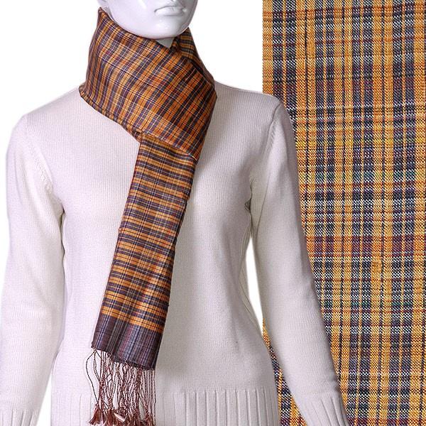 Handgewebter Schal (Naturseide)
